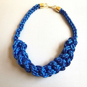 Jewelry - Royal Blue Crochet Statement Necklace